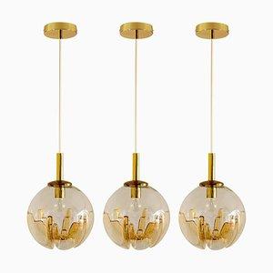 Murano Globe Pendant Lamp from Mazzega, Italy, 1970s