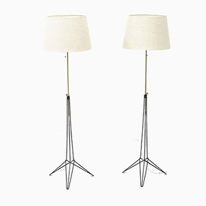 Floor Lamps by Nils Strinning, 1950s, Set of 2