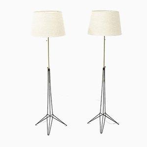 Stehlampen von Nils Strinning, 1950er, 2er Set