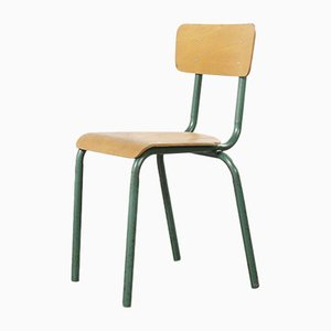 French Vintage Aqua Model 511 Stacking Chairs from Mullca, 1950s, Set of 6