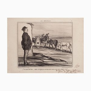 Lithographie, Honoré Daumier, It Might Be Good, 1856