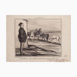 Litografía Honoré Daumier, It Might Be, 1856