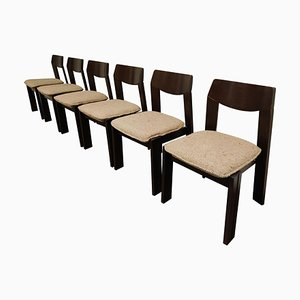 Vintage Brutalist Dining Chairs, 1960s, Set of 6