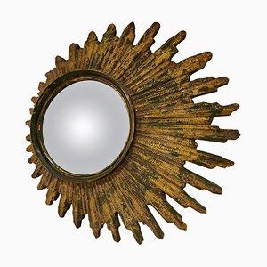 Midcentury Golden Sunburst Mirror, 1960s