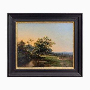 Paisaje pastoral con colinas distantes de Cornelis Jan Bolt