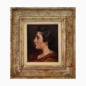 Retrato de la maestra del pintor de Jules Rullens