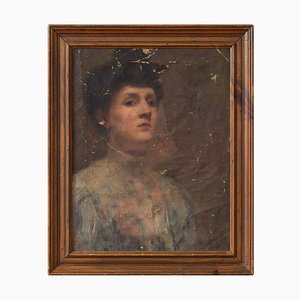 Worn Portrait of a Lady von Harold Lapham