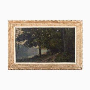 Forest Landscape with River by Eugène D'argence