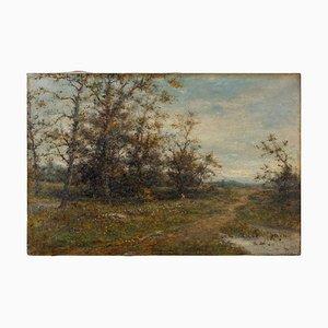 Paisaje rural inglés con pista, siglo XIX