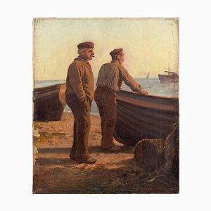 Französische Zwei Fischer am Ufer
