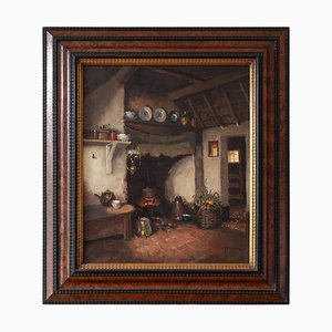 Farmhouse Interior with Fireplace by Hendrik-Jan Neuland