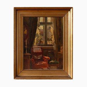 Lounge Interior mit rotem Armlehnstuhl von Viggo Pedersen