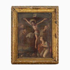 Kreuzigung mit Maria und Engelchen aus dem 18. Jahrhundert