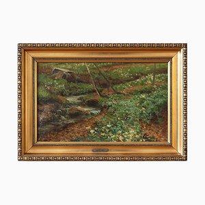 Forest Landschaft mit Buchfinken & Stream von Carl Milton Jensen