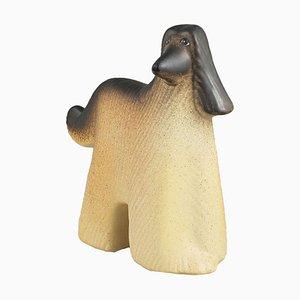 Glazed Ceramic Afghan Hound by Lisa Larson for K Studio & Gustavsberg