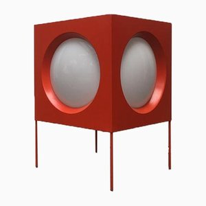 Mid-Century Swiss Space Age Cube Floor Lamp from BAG Turgi