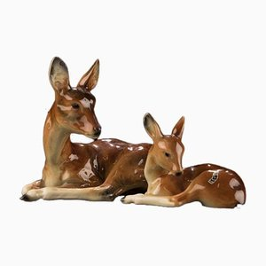 Reh with Fawn by Goebel, 1950s, Set of 2
