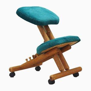 Danish Oak Kneeling Chair, 1970s