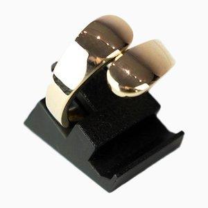 Anello in due parti di oro a 14 carati