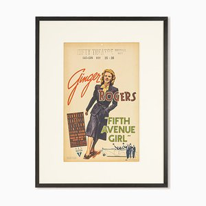Window Card, Fifth Avenue Girl, Ginger Rogers, 1939