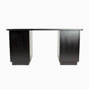 Großer funktionalistischer Schreibtisch aus schwarzer Eiche von Jitona, 1943