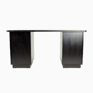 Large Functionalist Black Oak Desk from Jitona, 1943