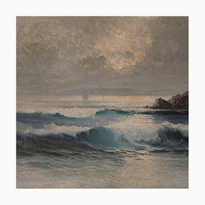 Peinture Paysage Marin, 20ème Siècle