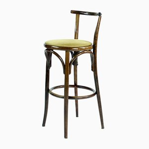 Benttwood Bar Stool from Tatra, 1950s