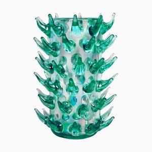 Aquamarina Vasen aus Muranoglas von Luigi Camozzo, 1970er, 2er Set