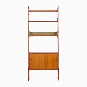 Norwegian Free Standing Teak Wall Unit by Torbjørn Afdal, 1970s
