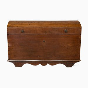 Large Antique English Oak Chest, 1800s