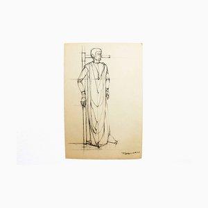 F Gürtler, Carboncillo sobre papel, años 70