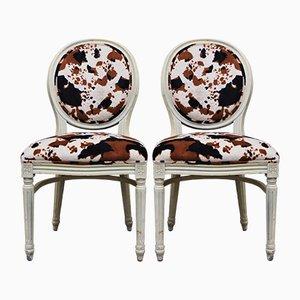 Chaises de Salon Style Baroque en Bois, 1980s, Set de 6