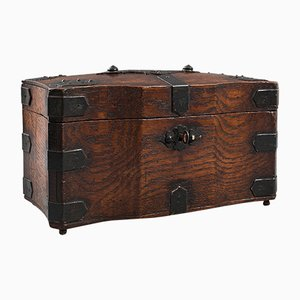 Antique English Oak Tea Box