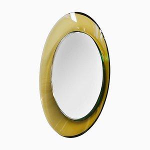 Specchio da parete rotondo di Max Ingrand per Fontana Arte, anni '60