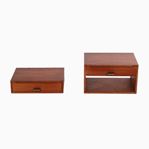 Teak Bedside Tables by Poul Cadovius for Cado, 1960s, Set of 2