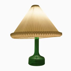 Mid-Century Green Glass 302 Table Lamp by Gunnar Biilmann Petersen for Le Klint