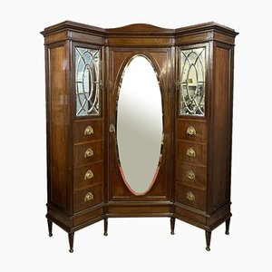 French Louis XVI Mahogany Wardrobe