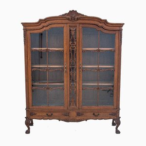 Chippendale Style Book Cabinet or Showcase, 1930s