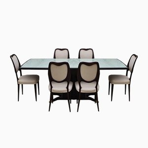 Mahogany Dining Table & Chairs frm the Rigamonti Brothers, 1950s, Set of 7