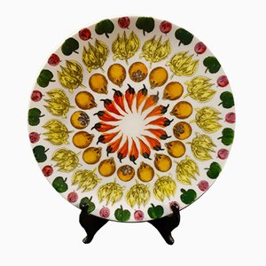 Assiette Carousel of Fruit par Piero Fornasetti pour Atelier Fornasetti