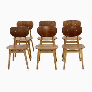 Model SB13 Dining Chairs by Cees Braakman for Pastoe, 1950s, Set of 6