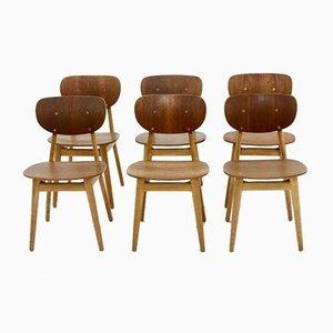 Modell SB13 Esszimmerstühle von Cees Braakman für Pastoe, 1950er, 6er Set