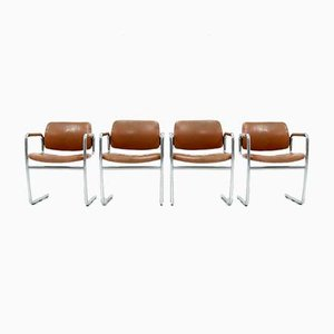 Dining Chairs by Jørgen Kastholm for Kusch+Co, 1970s, Set of 4
