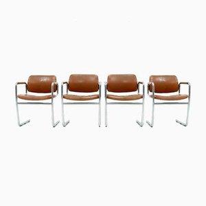 Esszimmerstühle von Jørgen Kastholm für Kusch + Co, 1970er, 4er Set