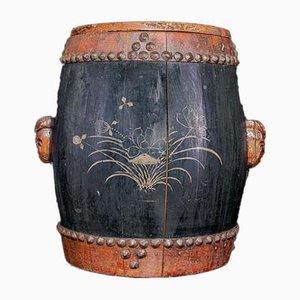 Antike Reisschale aus Holz