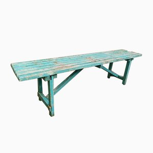 Blue Wood Bench, 1960s