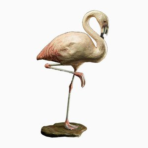Handgeknüpfter Papier Maché Flamingo