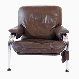 Brown Leather Kangaroo Chair by Hans Eichenberger for de Sede, 1970s