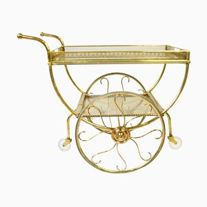 Mid-Century Brass Bar Cart by Josef Frank for Svenskt Tenn, 1960s